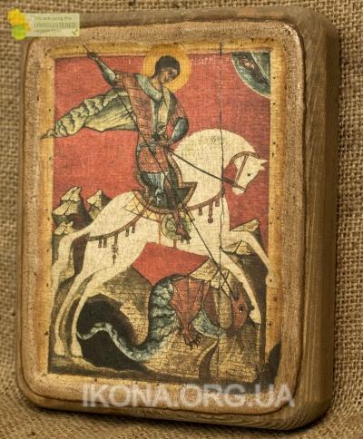 Ікона Сятий Юрій Змієборець 16 ст - №17