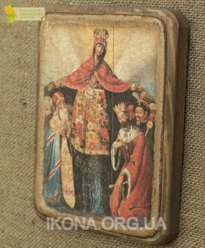 Ікона Покров Богородиці з Богданом Хмельницьким 18ст.- №6