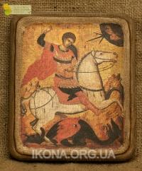 Ікона Святий Юрій Змієборець 16ст.- №19