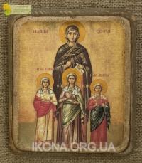Ікона Святі Віра Надія Любов та матір їх Софія - №41