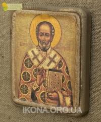 Ікона Святий Миколай Чудотворець 17ст. - №14