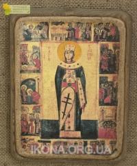 Ікона Свята Катерина (з житієм) 14ст. - №26