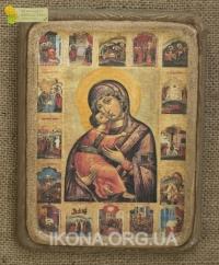 Володимирська ікона Божої Матері (Замилування), з житієм 17ст. - №25