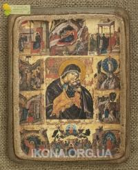 Ікона Богородиці Забавлання Немовляти ( з празниками) 14ст.- №27