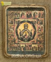 Ікона Богородиця Знамення 17 ст. - №63