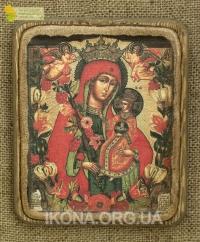 Ікона Богородиця Нев'янучий цвіт 19ст. - №72
